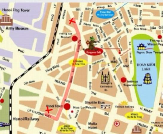 Map to new location from 18 July 2015 - Picture of Om Hanoi Yoga ...