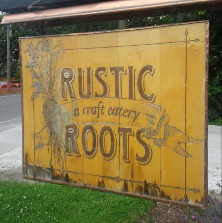 Rustic Roots: Sign Out Front