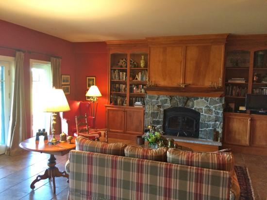Pine Grove Bed & Breakfast: Fireplace Suite living room