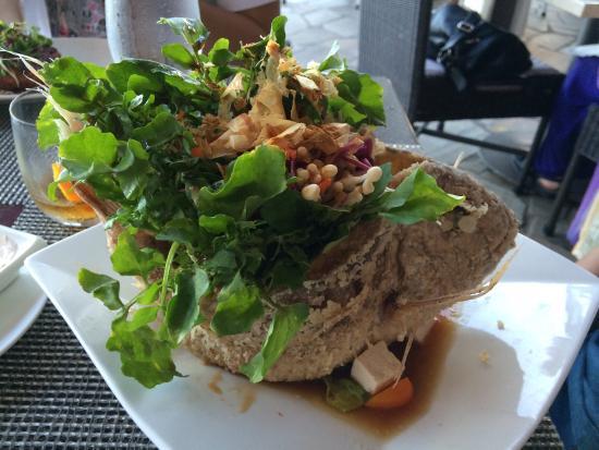 Azure Restaurant: Ocean seafood salad, fried fish n lavender panna cota