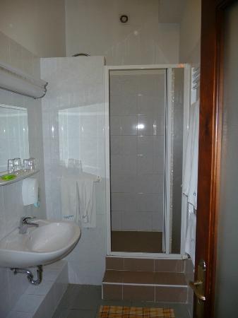 Hotel Metro: Łazienka. Wejście do kabiny prysznicowej po schodach.