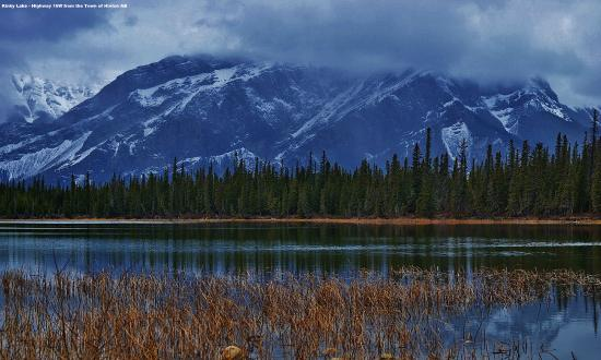 Roche Miette  view from the Town of Hinton AB  Picture
