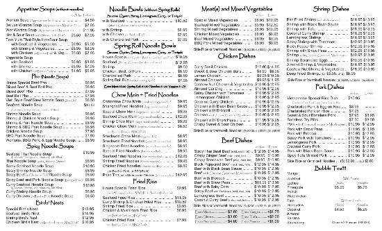 Takeout menu page 2 picture of spicy garden saskatoon for Asian cuisine saskatoon menu