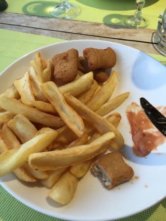Gambas piment d'espelette / paella / menu kids nuggets frites