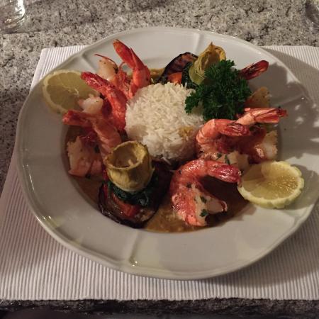 Al Grottino : Gamberoni al curry