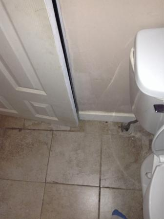 Emerald Isle Motel : Dirty room, toilet is crooked, shower is filthy, the bathroom door doesn't shut and there is fil