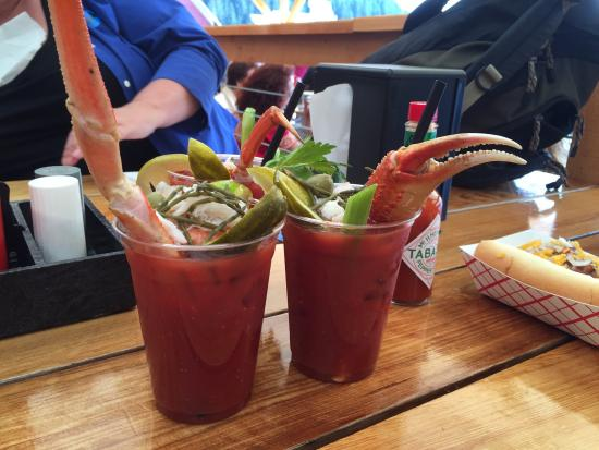 Icy Strait Point: Icy straight point----enjoy the crabby bloody Mary's at the crab shack