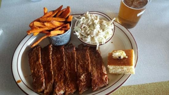 Flat Rock Wood Room: St Louis rib plate