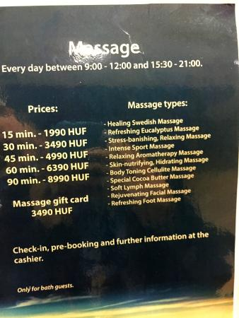 Veli Bej Bath : massages are available