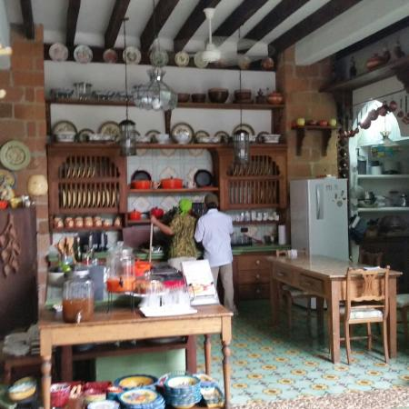 Departamento de Antioquia, Colombia: The kitchen at Casa Horizontes, a view of the pool and garden,  and assorted pics of town.