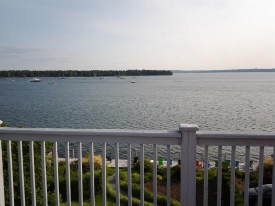 Treadwell Inn: View from the balcony of room 6.