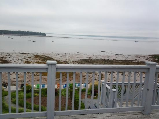 Treadwell Inn: View from balcony with the tide out.