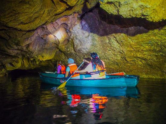 Belize Fantastic Tours: Can we fit under there? (taken by Phoenix Photo Ltd.)