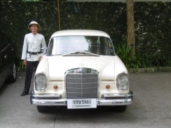 Request the 1966 Mercedes for short trips to city or hire to/from airport