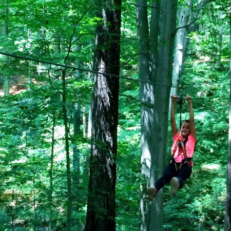 Lark Valley Zip Lines: Weeeeee!