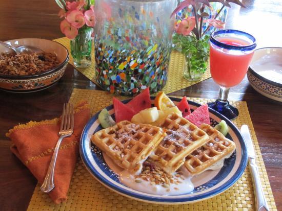 Casa Las Piedras: Delicious breakfasts