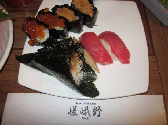 Sagano: 残念な寿司