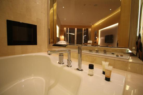 Big Bathroom With Big Jacuzzi Tub Picture Of The Meydan Hotel Dubai Tripadvisor
