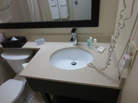 Comfort Inn: sink small but clean