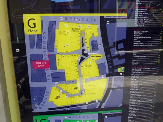 Trinity Leeds Map floor plan   Picture of Trinity Leeds, Leeds   TripAdvisor