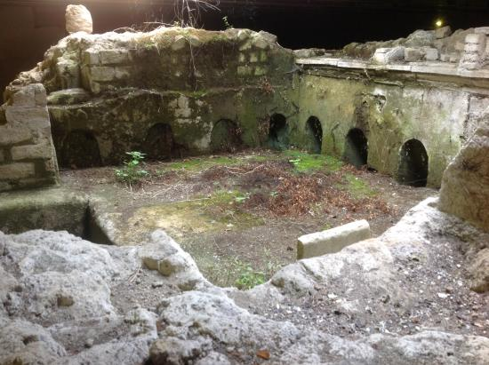 Green House Sorrento: Ancient ruin right under the hotel !