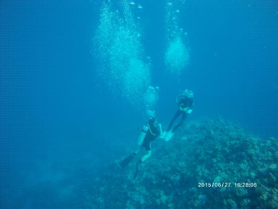 Mirage Divers Diving Center: Eszter in the deep