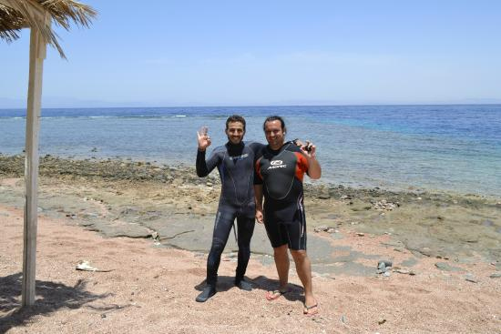 Mirage Divers Diving Center: Ahmed and Peter Um Sid