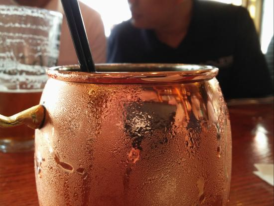 Vesta: The Moscow Mule. Served in a copper mug.