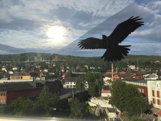 Molla Hotel: Utsikt fra toppen bar på Mølla hotell