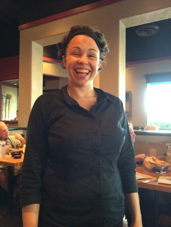 On the Border: our waitress, Brittney