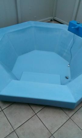 Alpin Motel and Conference Centre: blue spa bath