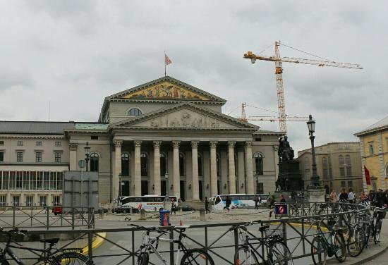 St Platz München the bavarian state theater picture of max joseph platz munich