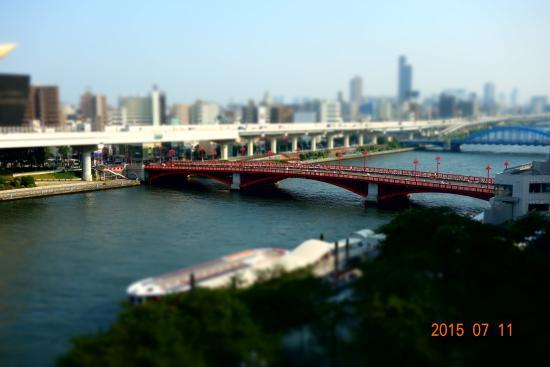 Dormy Inn Express Asakusa: 部屋から見た吾妻橋方面