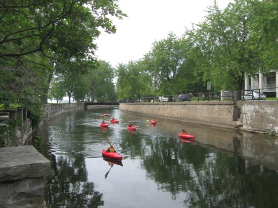 Lachine Fur Trade Museum : Lachine Canal beside the Museum