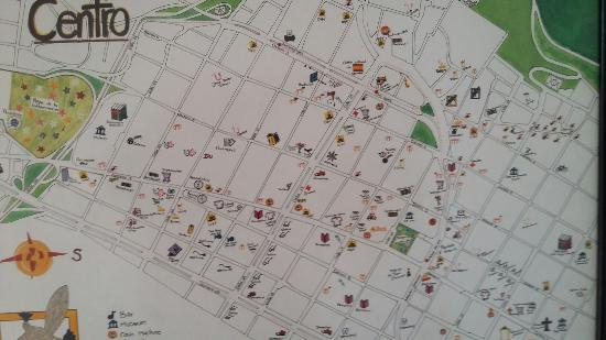 Casa platypus own made map / central Bogota