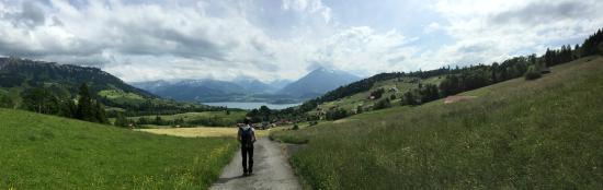 SwissHut B&B: Hiking in the hills above SwissHut