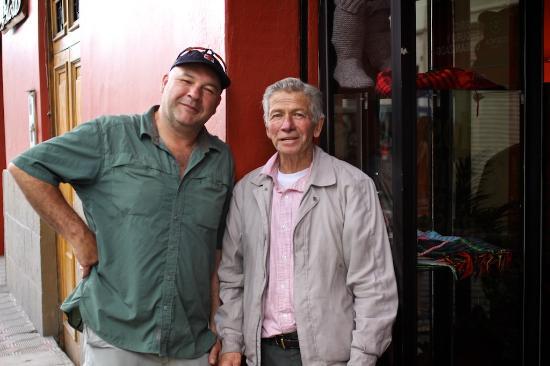 Hostal Villa Del Rosario: My friend, Gary, with Don Luis