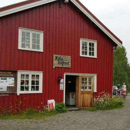 Vegarshei, Norge: Kilsloftet med elgsuppe/moosesoup at Kilsloftet. A wonderfull meal at a fantastic location.