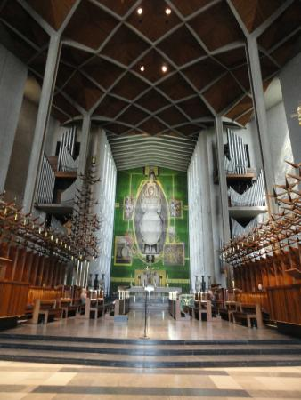 Coventry, UK: World's largest tapestry and body of cathedral
