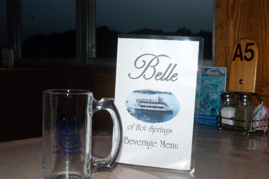 Belle of Hot Springs Riverboat: Menu- I forgot the inside shot. Sorry