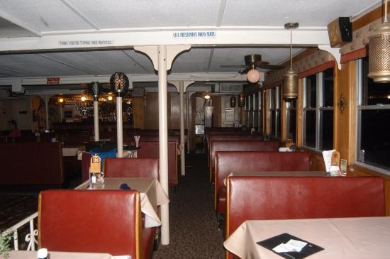 Belle of Hot Springs Riverboat: Inside dining area