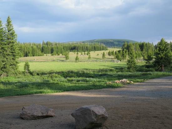 Wyoming High Country Lodge: View of Bald Mountain from the Lodge