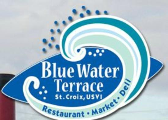 Blue Water Terrace: Restaurant awning