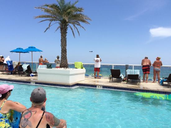 The Blue Angels As Viewed From Margaritaville Beach Hotel Pool