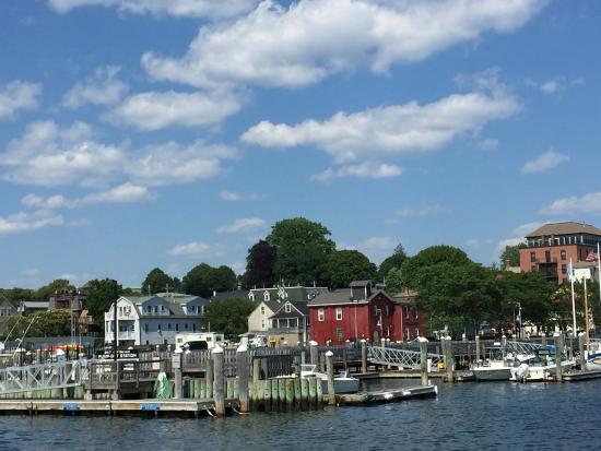 View of Bristol, RI from Prudence Island Ferry