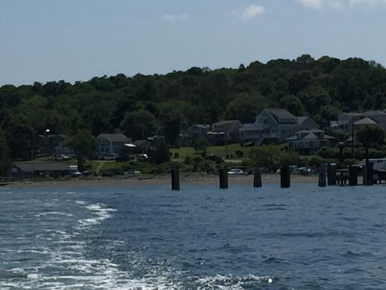 Prudence Island Ferry: View of Prudence Island, RI from Ferry