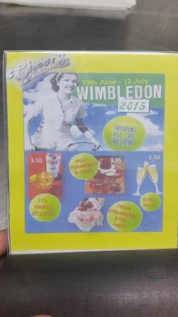 Cheers Sports & Food Bar : Wimbledon Specials