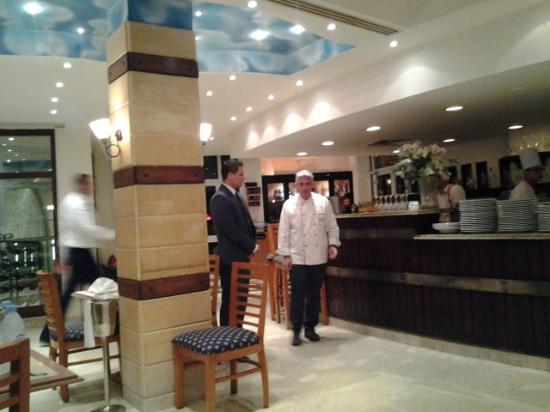 Zigolini's Italian Restaurant : ingresso del ristorante con Daniele
