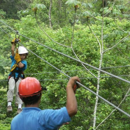Calico Jack's Belize Jungle Canopy and Zip Lining: The little one