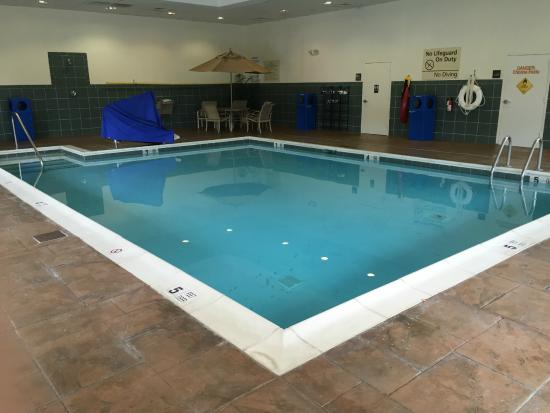 Swimming pool picture of hampton inn garden city garden for Garden city pool 11530